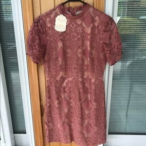 Altar'd State Rose Lace Mini Dress Size M NWT